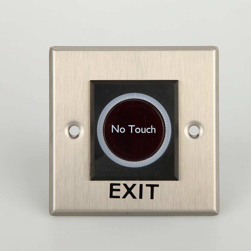Touchless No Touch Door Infrared Sensor Exit Button Switch for Access Control Systems Gates and Garage Openers no touch exit switch inductive exit button sensor access control dc12v with led indicator f1743d