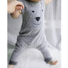 Kids Cartoon Bear Printed Romper Baby Boys Sleeveless Cotton Jumpsuit Outfits Toddler Kids Casual Clothes