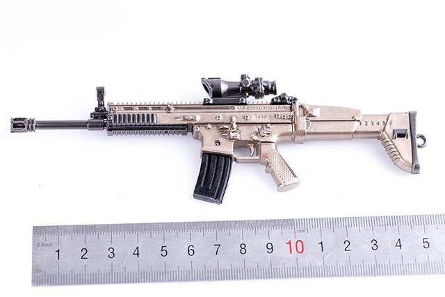 1 6 scale weapon model accessories chicken dinner scar l gun model