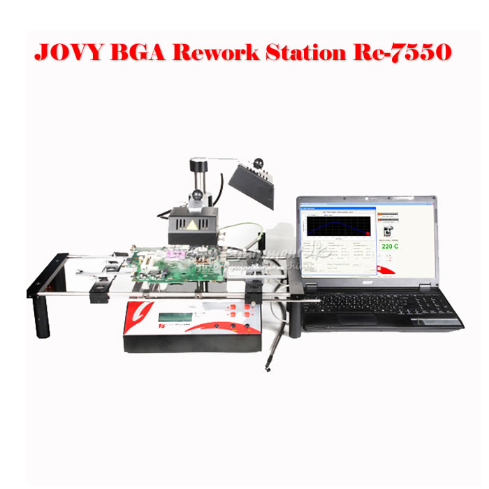 BGA Rework station jovy Re-7550 bga rework station, bga repair machine/system, welding machine ship to russia no tax jovy re8500 bga rework station re 8500 upgraded from re7500 soldering machine high quality