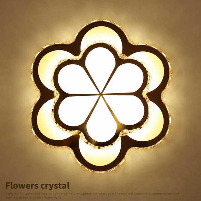Kristal DIPIMPIN lampu Bunga lampu Langit-langit pintu masuk lorong koridor balkon melingkar Emas lampu sorot produsen