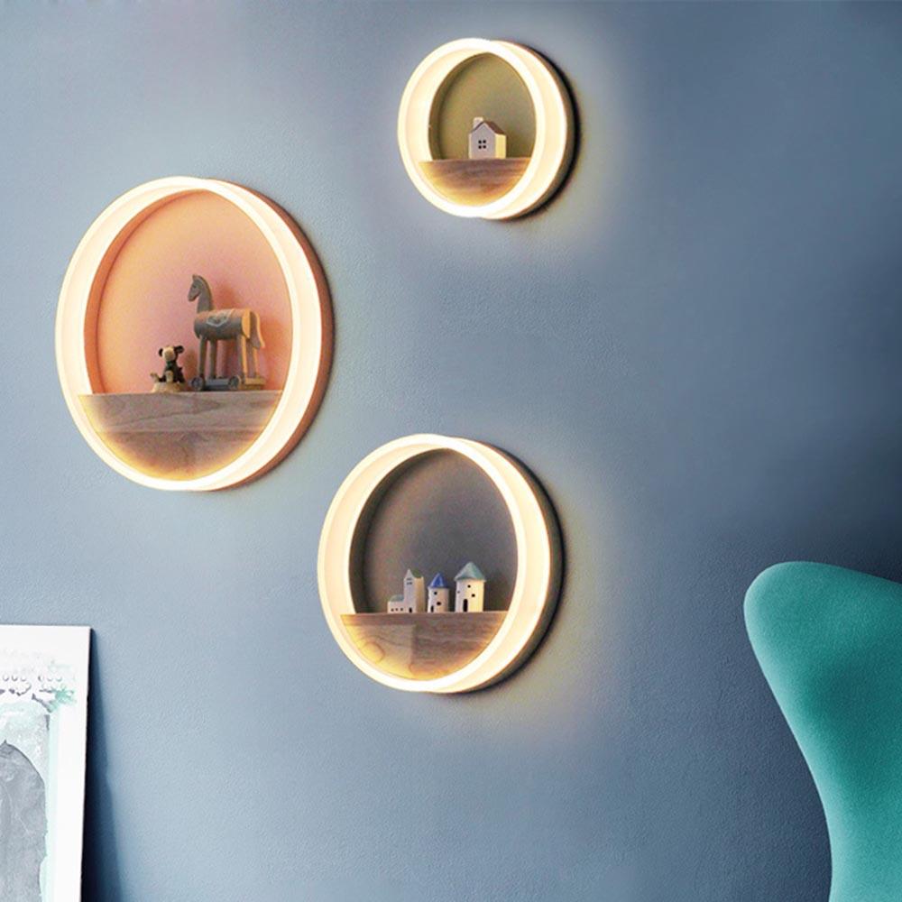 Здесь продается  Modern Nordic Colorful Macaron Round LED Wall Lamp Bedside Light Child Bedroom Living Room Sconce Light Fixture Wall Decor Art  Свет и освещение