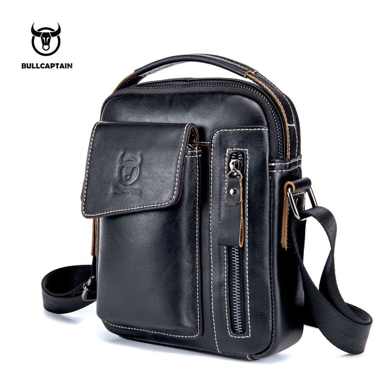 BULLCAPTAIN Genuine Leather Men Messenger Bag Casual Crossbody Bag Business Men's Handbag Bags for gift brand shoulder bag padieoe brand 100% genuine leather men messenger bag casual crossbody bag business men s handbag bags for gift shoulder bags men