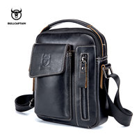 BULLCAPTAIN Genuine Leather Men Messenger Bag Casual Crossbody Bag Business Men S Handbag Bags For Gift