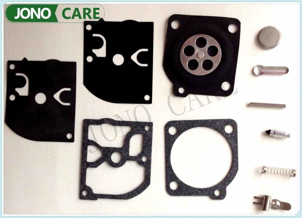 5sets Zama Carburetor Rebuild Kit RB39 carb repair for McCulloch 3210 3214 3216 3516 C1Q-M27 C1Q-M28 C1Q-M33 C1QM36 carburetor carb rebuild repair kit gasket diaphragm for husqv arna chainsaw 235 236 jonsered cs2234 cs 2238 zama carb kit rb 149