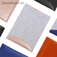 For Macbook Air 13 Sleeve New Felt Leather Liner Sleeve Bag With Mose Pad Design For