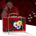 Mini Flower Crystal Bag Women Luxury Rhinestone Wedding Handbag Bride Dinner Bag Girl Party Evening Bag Shoulder Bag Top Shinny