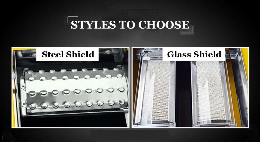 grill vidro aço escudo comprar um obter