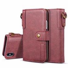 Бизнес кожаный чехол-книжка с бумажником для карт Стенд кожаный чехол в стиле ретро чехол для iPhone X, 8, 7, 6 S, Plus, 5S samsung Galaxy S9 S8 плюс S7 S6 Edge NOTE 8