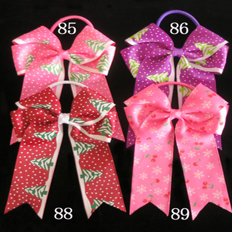100 BLESSING Good Girl Hair Accessories Long Tail 4.5 Cheer Leader Bow Elastic