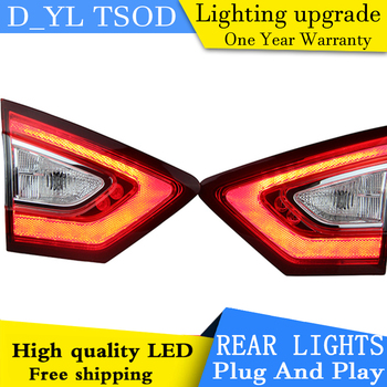 Car Styling LED Tail Lamp for Mondeo LED Taillights 2013-2015 Rear Light DRL+Turn Signal+Brake+Reverse auto Accessories led ligh