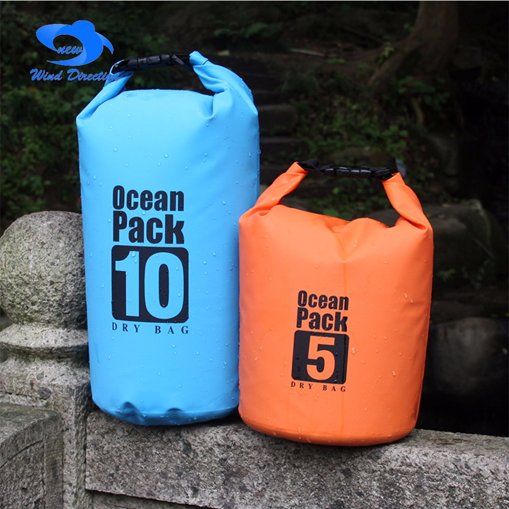 camping utdoor swimming Waterproof Bag 4 Color 5L 10L 20L 30L Camping Rafting Storage Dry Bag with Adjustable Strap Hook