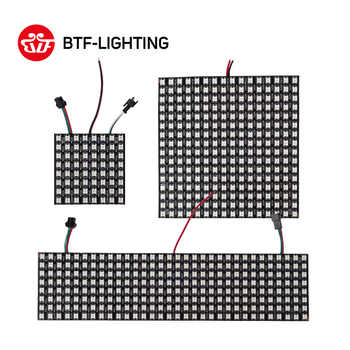WS2812B 16*16 Flexible Pixel Led Module Panel 8*8/8*32/20*50 Screen Matrix Neopixel WS2812 IC Individually Addressable DC5V IP30 - DISCOUNT ITEM  45% OFF All Category