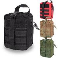 Tático saco médico removível primeiros socorros bolsa caso de emergência kits de sobrevivência para mochila cinto viagem acampamento caminhadas caça ferramenta|Segurança e sobrevivência| |  -