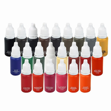 10 Colors Permanent Makeup Cosmetic Tattoo Ink Micro Pigment Color 1/2 oz Permanent Makeup Ink Kits