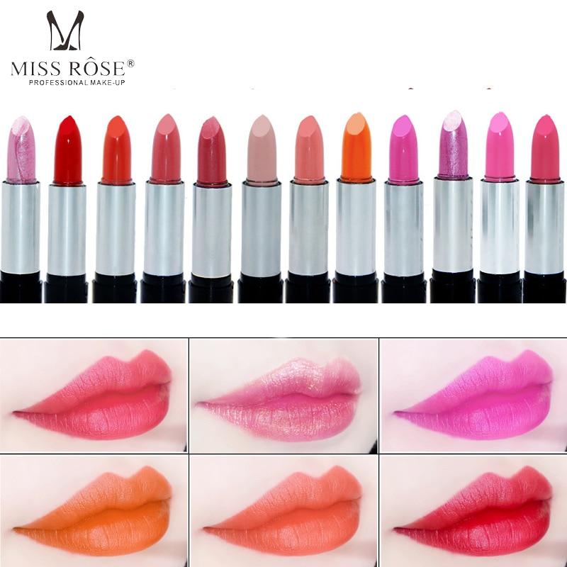 Miss Rose Waterproof Liquid Lipstick Cosmetic Matte Lipstick for Women Makeup Lipstick Make Up Lip Stick