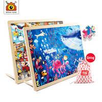 100 stück von holz puzzle für kinder holz spielzeug kid geburtstag geschenk pädagogisches spiele interaktive spielzeug kindergarten liefert
