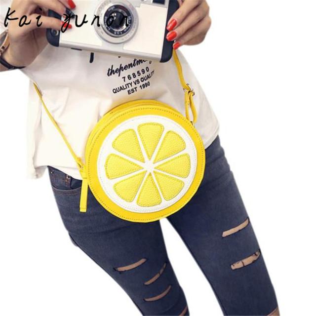 Alta qualidade de personalidade de moda feminina rodada setembro lemon shoulder bag crossbody bolsas frete grátis dropshipping por atacado 9