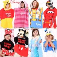 Disney Hero Baby Cotton Hooded Bath Towel Kids Cartoon Girls Robe Boy Beach Cloak Towel Elsa Mickey Pooh Toalha for Toddler