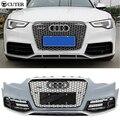 Высокое качество A5 RS5 стиль ABS Авто Автомобиль Передний Бампер + передняя Решетка Сетки Гриль тела комплект Для Audi A5 RS5 2013UP