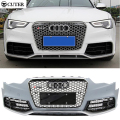High quality A5 RS5 style ABS Auto Car Front BUmper + Front Mesh Grill Grills body kit For Audi A5 RS5 2013UP
