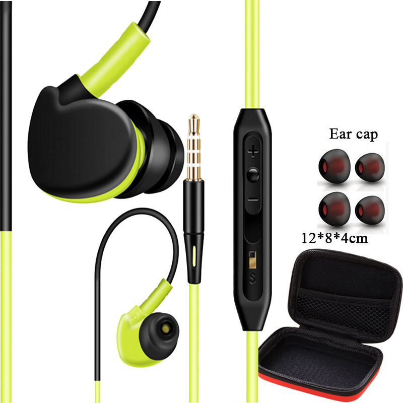 Sport Headphones Running Earphones Sweatproof  Stereo Super Bass Headset Handsfree With Mic For All Mobile Phone Mp3 Mp4 qkz c6 sport earphone running earphones waterproof mobile headset with microphone stereo mp3 earhook w1 for mp3 smart phones
