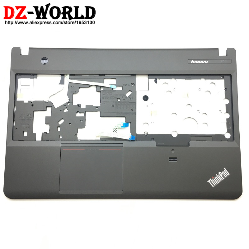 New Original for ThinkPad E531 E540 Keyboard Bezel Palmrest Cover 00HM506 04X4976 with Touchpad/Fingerprint Reader/Switch/Cables laptop palmrest keyboard for lenovo for thinkpad s3 s431 s440 s431 us gr uk touchpad original mp 12n63 keyboard bezel cover