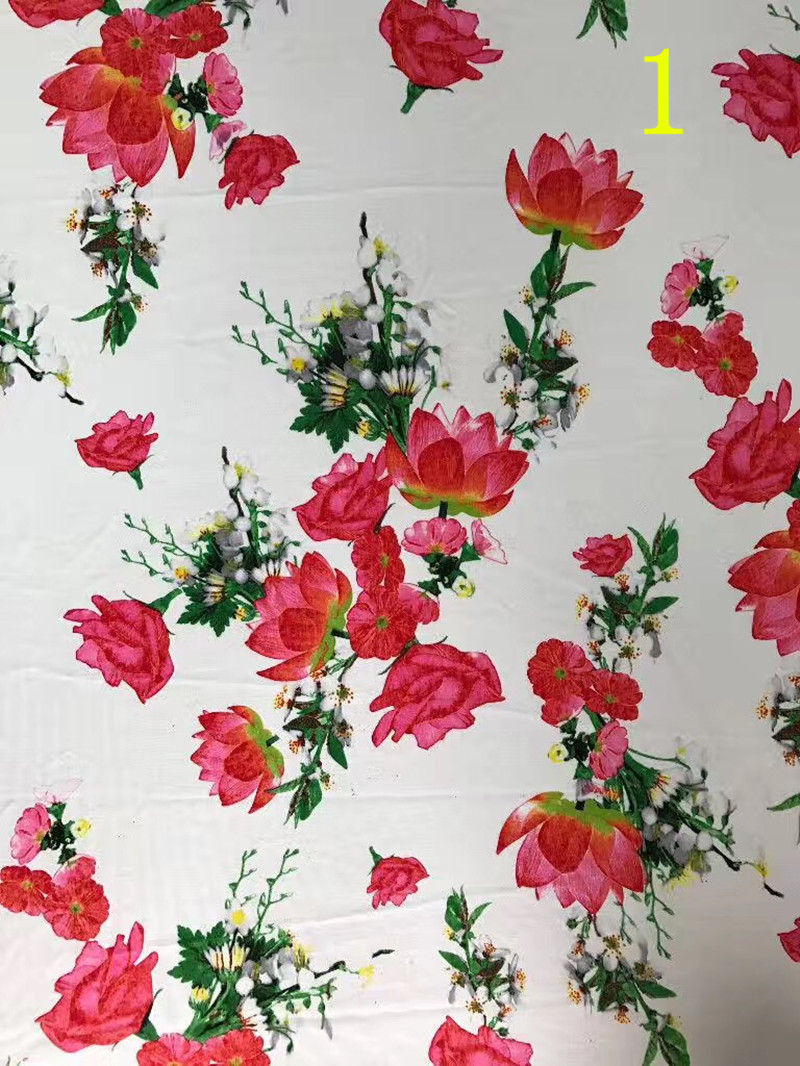 150cm Brushedfleece Surface China Folk Style Lotus Flower Printing