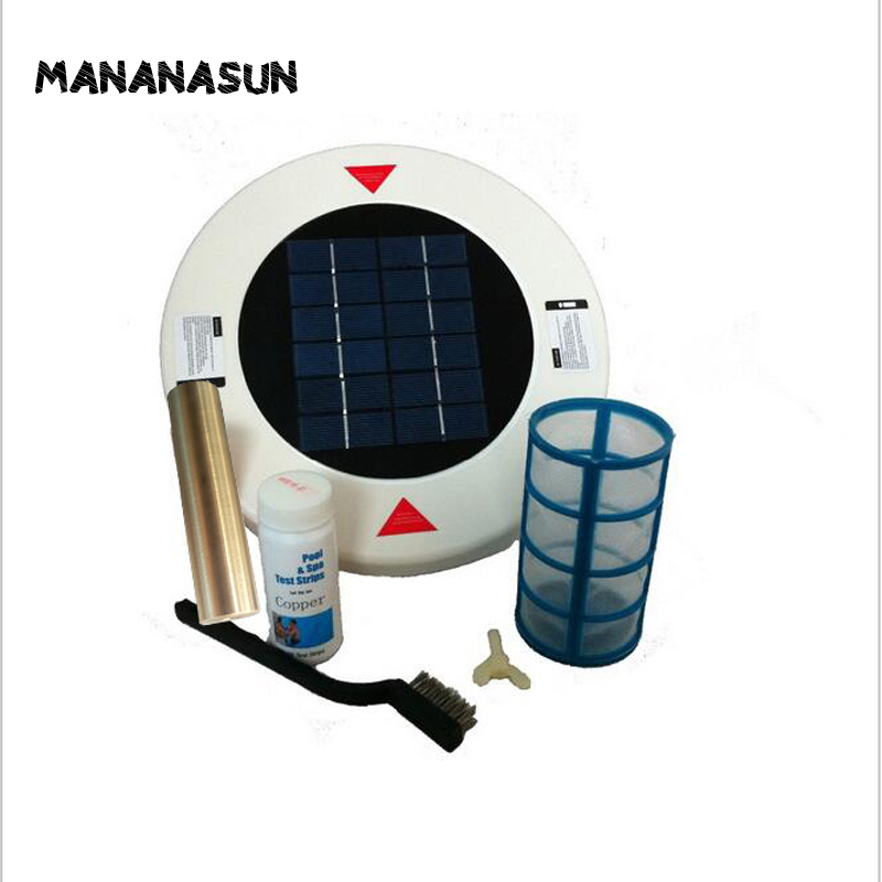 Solar Pool Algae Bacteriële virussen Killer & Water Purifier Ionisator Water Cleaner Tot 32000 Gal
