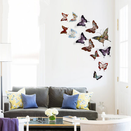 European Three dimension Butterfly Mural Wall Decoration Emulational ...