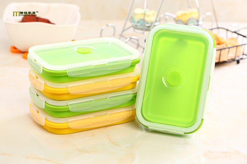 1PC Portable Silicone Collapsible Lunch Folding Picnic Food Storage