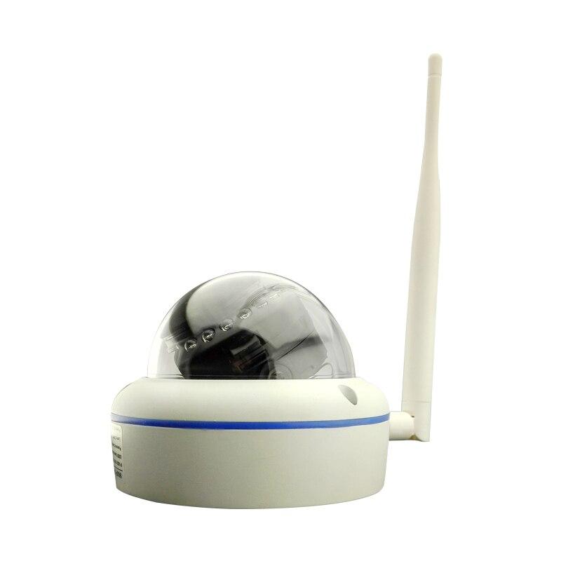 HJT Full-HD 1080P 2.0MP Wireless Wifi IP Camera Dome Mini CCTV Camera Security Indoor Network P2P Cloud Metal freeshipping
