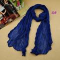 2016 women's fashion solider color blue black winter warm scarf soft Plain Cotton Women Scarves Shawls Muslim Hijabs Long Scarf