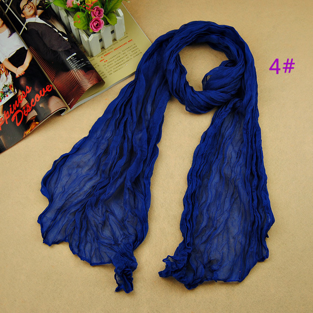 Women's fashion solider color blue black winter warm scarf soft Plain Cotton Women Scarves Shawls Muslim Hijabs Long Scarf
