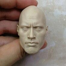 1/6 Scale Dwayne Johnson Head Sculpt Unpainted Suitable 12 Male Bodies Figures