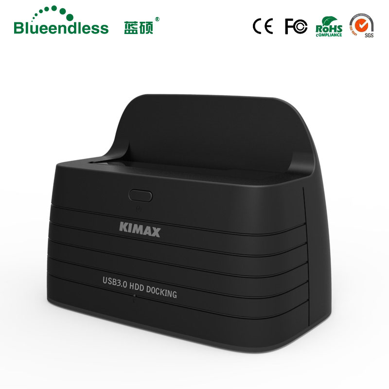 1 Bay 2.5 3.5 Hdd Docking Station Sata USB To 3.0 Case Hd Externo For Ssd Hdd 2TB Hdd Usb Sata Dock Plastic Socket HDD Enclosure