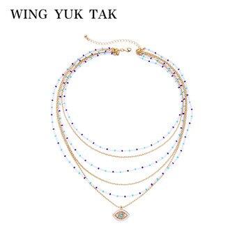 40dd8527dcee Wing yuk tak Boho multicapa Maxi collar bohemio hecho a mano collar  gargantilla Nueva joyería de declaración de moda