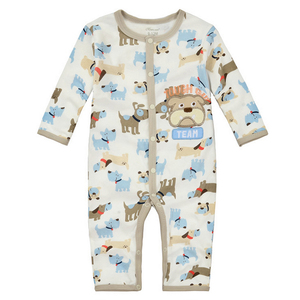 Image 1 - y344 Long legged long sleeved Romper climbing clothes autumn childrens clothing male baby a leotard cute puppy pattern