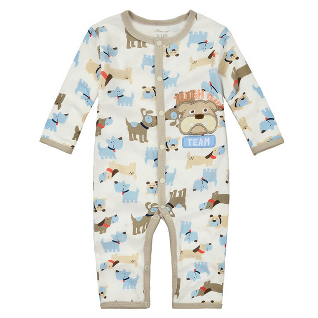 y344 Long legged long sleeved Romper climbing clothes autumn childrens clothing male baby a leotard cute puppy pattern