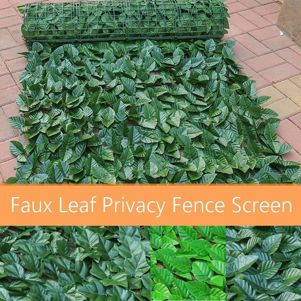 300x150cm Artificial Fence Screen Decorative Plants Leaves Indoor