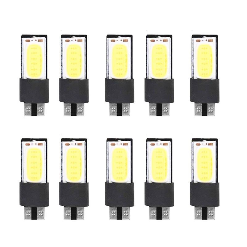 <font><b>10</b></font> <font><b>pcs</b></font> <font><b>T10</b></font> <font><b>LED</b></font> 194 168 W5W High Quality COB Interior Bulb Light Parking Backup Brake Lamps Cars Auto <font><b>Led</b></font> Bulb White image