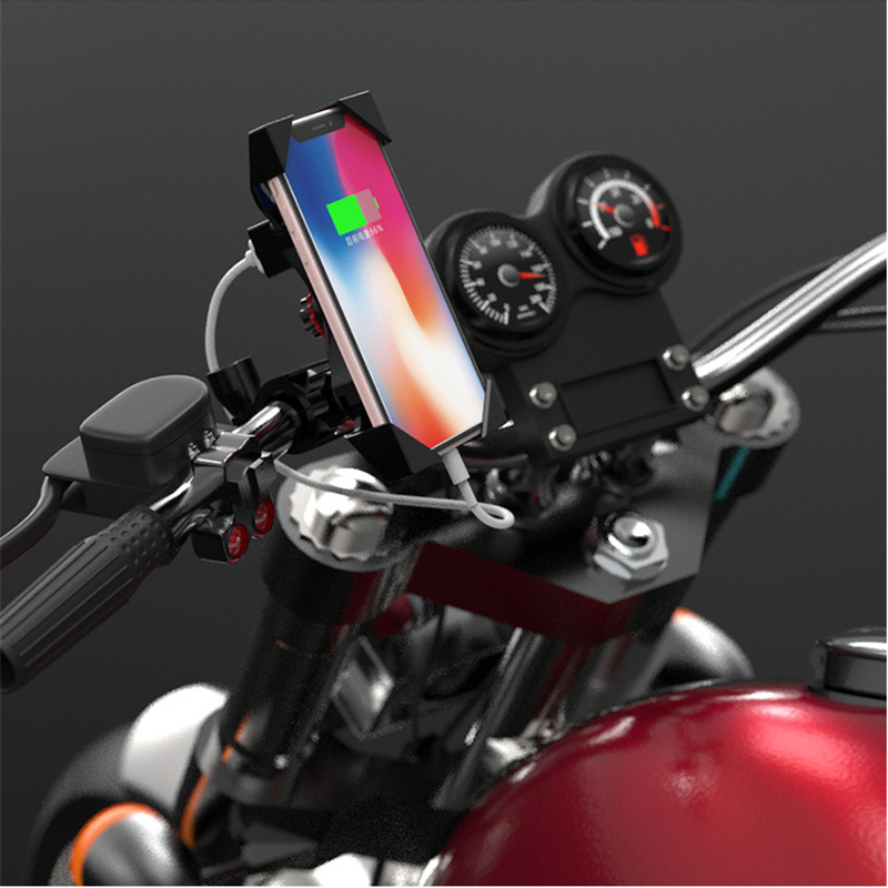 Motorcycle Handlebar Bike Mobile Cell Phone Mount Holder Support Bicycle Phone Stand For 4-6.5 inches For Samsung Huawe Xiaomi