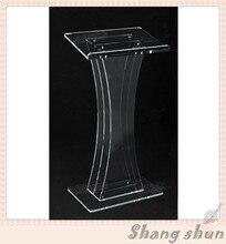 Acrylic church lectern podium acrylic pulpit for church