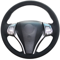 XuJi Black Suede Car Steering Wheel Cover for Nissan 2013 Teana 2014 X-Trail QASHQAI Sentra Nissan Tiida 2016