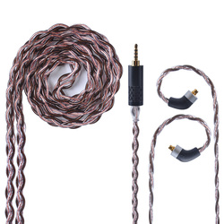 UPOCC NEOTECH 26AWG 7N Single Crystal Copper Cable 2.5/3.5/4.4mm Balanced Earphone Cable With MMCX import from Taiwan For HQ8