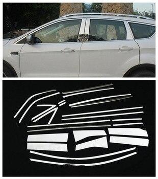 Для FORD ESCAPE KUGA 2013 2014 2015 2016 2017 2018 хромированная накладка на подоконник, рамка, накладка, литье, украшение, стойка, рамка