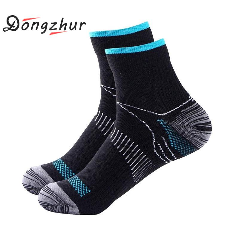 Veins Socks Compression For Plantar Fasciitis Heel Spurs Arch Pain Cotton Socks Crew Socks Breathable Soft Cycling Socks