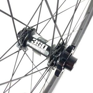 Image 4 - 1400 г 29er MTB XC 34 мм бескамерные BOOST колеса 30 мм Глубокий прямой тяга микро сплайн углеродная колесная 15X110 12X148 11s 12s UD матовая