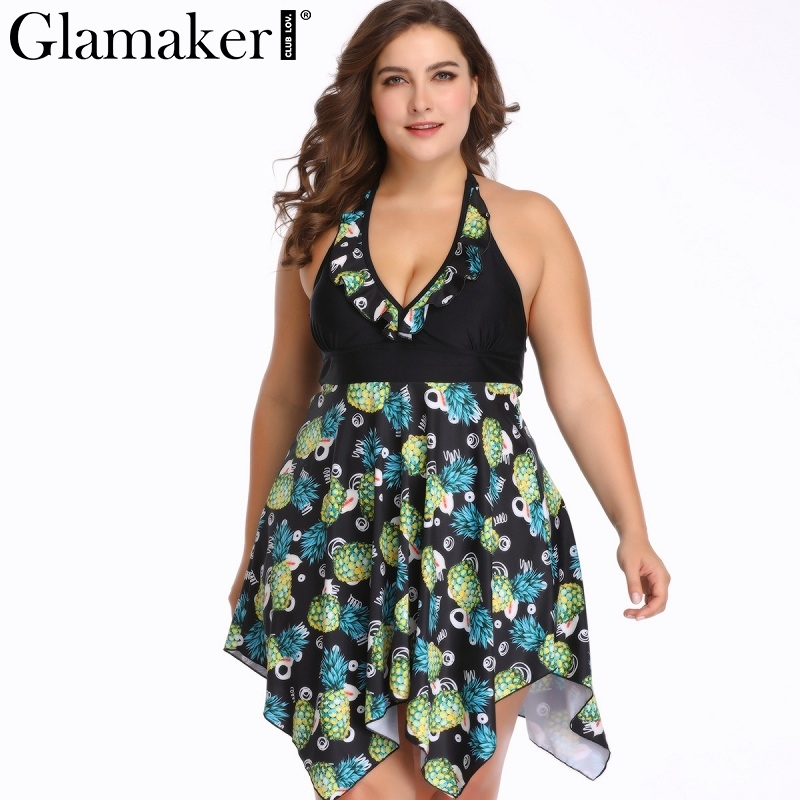 Honey Glamaker Black Sexy Floral Print Green Casual Playsuit Women Plus Size Bodycon Short Jumpsuit Ladies Elegant Swim Playsuits 6xl