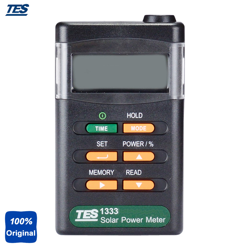 Solar Power Meters Digital Radiation Detector Solar Cell Energy Tester Wide Spectral Range Tes-1333 portable solar power meter for solar research and solar radiation measurement sm206